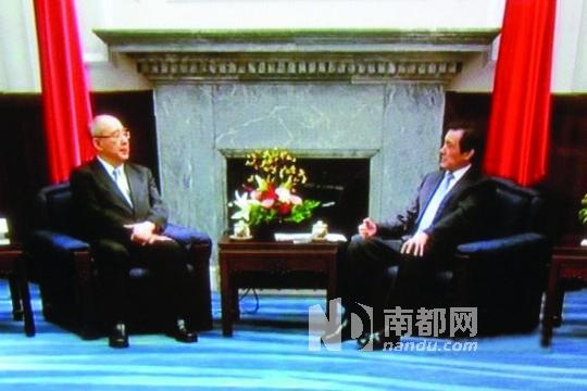 马英九昨日接见吴伯雄等人,表示习吴会意义重大。