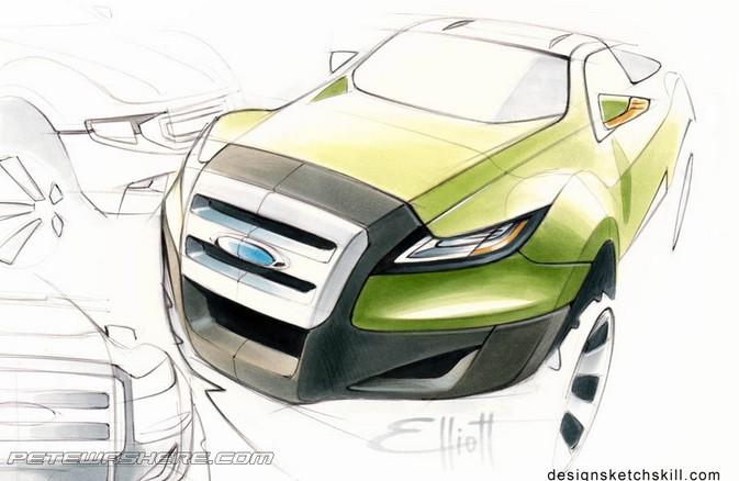 [汽车娱乐]peteelliott汽车设计手绘作品