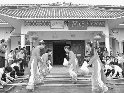 京族竹杠舞