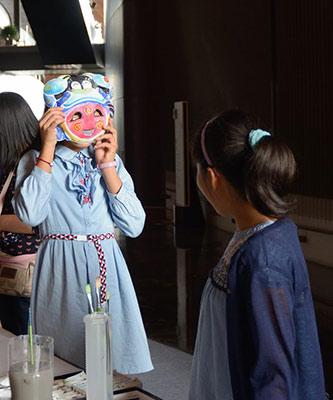 傩来傩去:少儿手绘面具体验展亮相国家大剧院