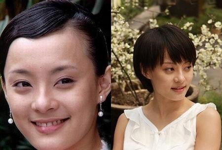 孙俪的额头太高了,不适宜露出额头。有刘海的短发让孙俪清秀甜美。
