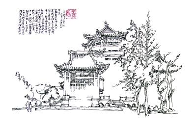 武汉大学老图书馆东侧面