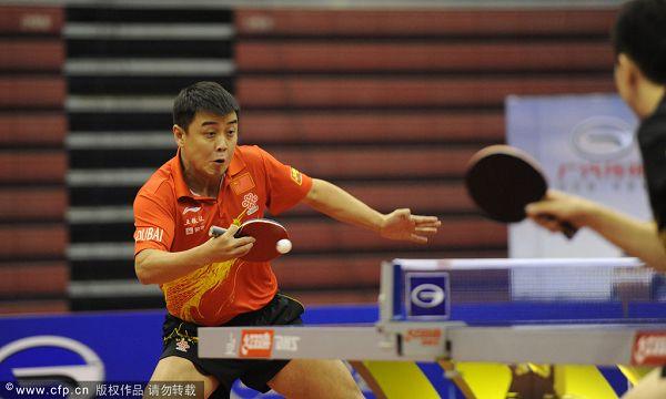 图文:中国乒乓球赛落幕王皓在比赛中-搜狐体育!!!