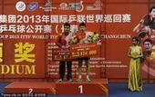 图文:中国乒乓球赛落幕 男单颁奖仪式
