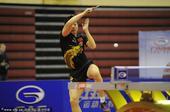 图文:中国乒乓球赛落幕 马龙在比赛中