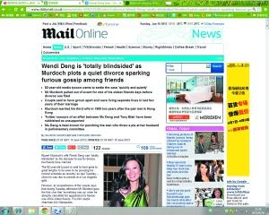 英媒:布莱尔与邓文迪有染