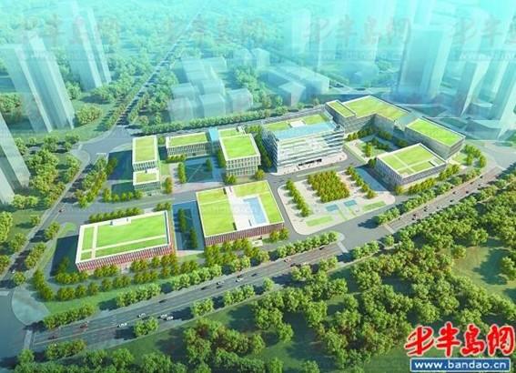 山大青岛校区基建全面铺开 主教学楼将封顶 图 高清图片