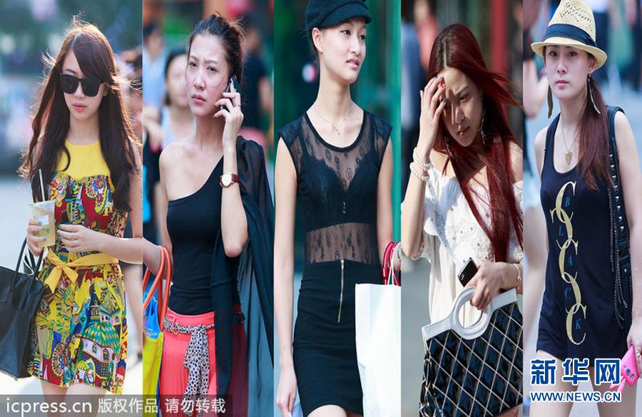 重庆高温持续 美女街头大秀清凉style组图 搜