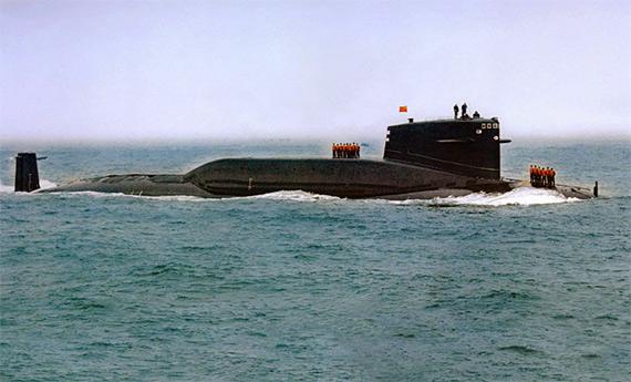 资料图:中国海军092夏级核潜艇。