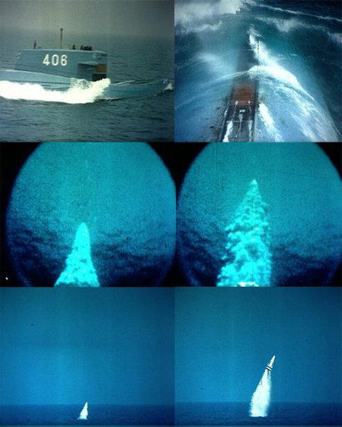 资料图:092核潜艇发射巨浪-1导弹的连续镜头