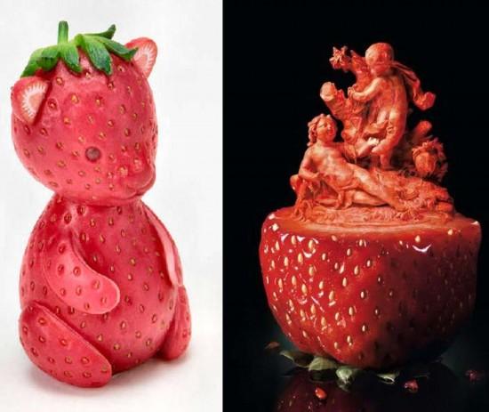 创意雕刻水果之柚子,它是造型最可爱的水果,是最容易创萌系造型的哦!图片