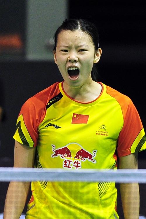2013新加坡羽毛球赛 李雪芮呐喊