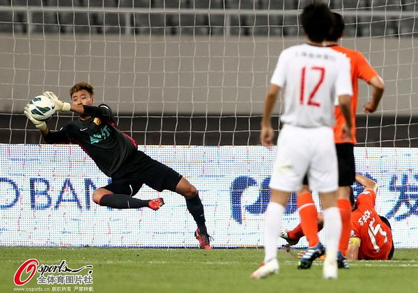 中超图:上海东亚1-0武汉卓尔 吴��侧身救险