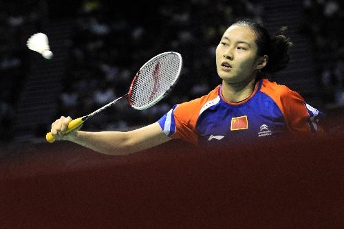 2013新加坡羽毛球赛 反拍回球