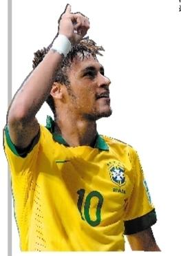 内马/三场比赛均进球,内马尔成了巴西偶像。新华社发
