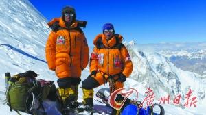 张京川和杨春风在K2峰7500米营地。