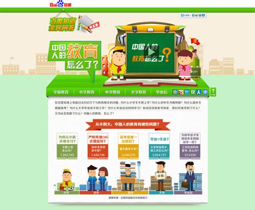 百度知道联合《南都周刊》发布中国式教育报告