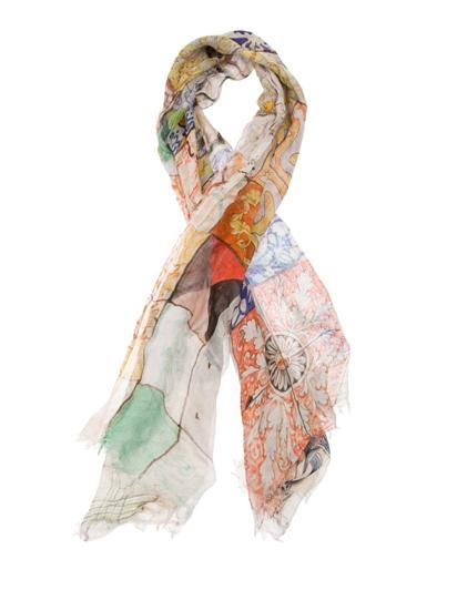 男士围巾的编织花样图 男士围巾的织法视频 手工编织的男士围巾 复古a