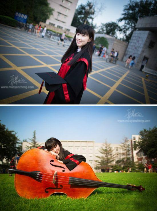 国人民大学网站主页发出一幅美女毕业生单人