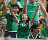 中超图:中能VS国安 忘情女球迷