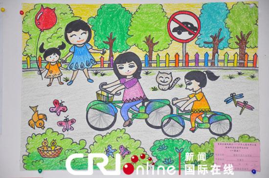 儿童绘画低碳环保作品,低碳环保绘画作品,低碳生活绘画作品,
