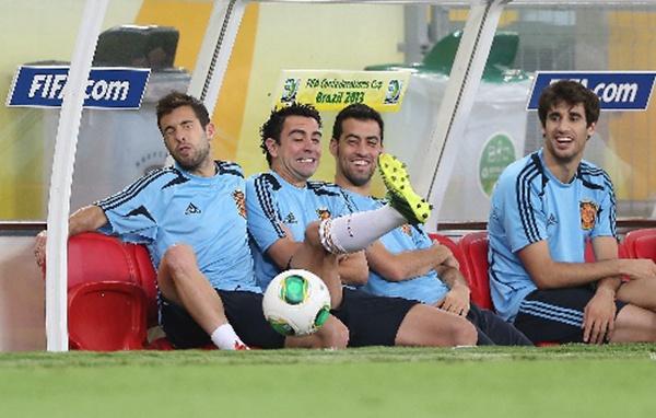 西班牙队备战决赛