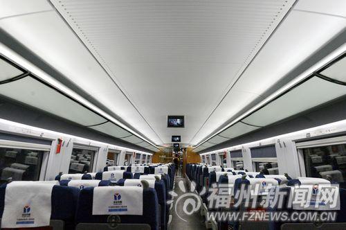 福州-北京高铁7月2日首发 豪华配置堪比星级酒