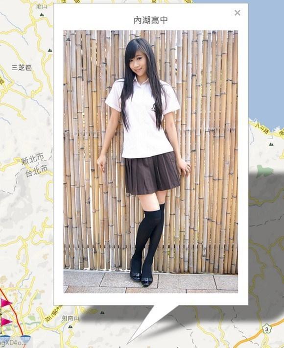 台湾女高中生制服地图走红 清纯与诱惑兼备 搜