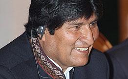 资料图:玻利维亚总统埃沃・莫拉莱斯