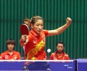 图文:[亚锦赛]中国女乒夺冠 刘诗雯反手变直线