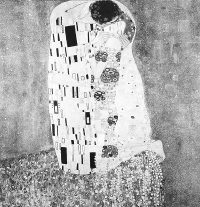 《吻》油画古斯塔夫·克林姆