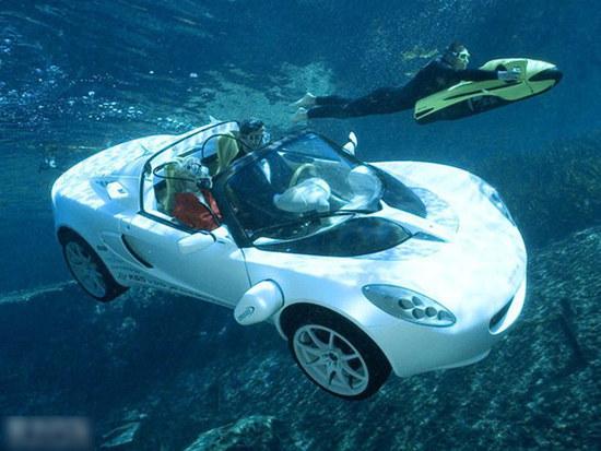 水陆两栖概念车问世 可潜水下亦浮于水面-搜狐