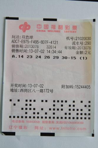 两张中出二等奖的彩票。