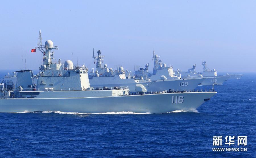 海上联合-2013中俄海上联合军事演习举行(组