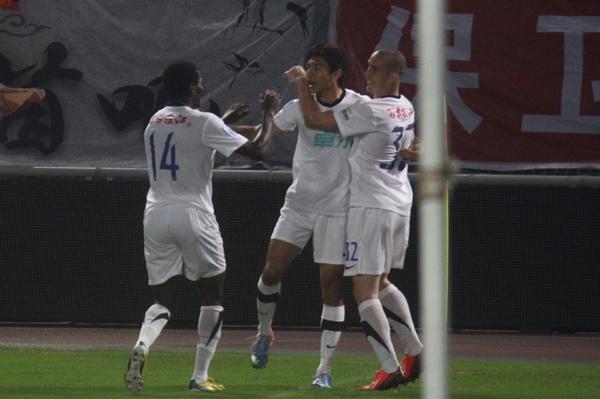 中超图:卓尔VS舜天 本特利进球