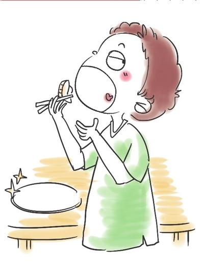 卡通饺子简笔画-两个饺子