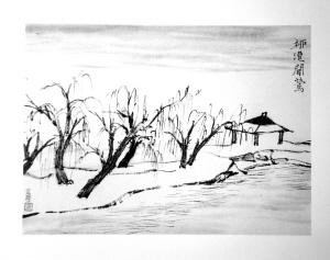 西湖十景在他的画里只有寥寥几笔(组图)图片