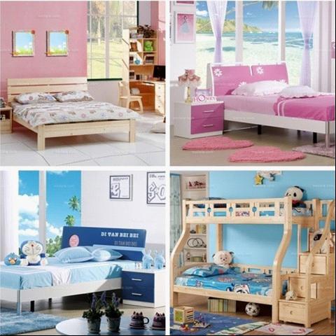 美乐乐的儿童家具多以天然原木材料制作