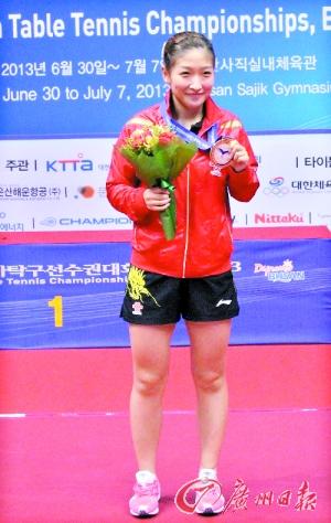 刘诗雯首夺亚锦赛女单冠军。