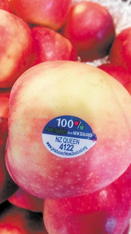 """美国玫瑰苹果上的""""洋标签""""并不能说明其身份。李金"""