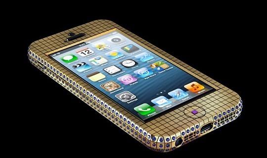 奢侈手机:黄金钻石iphone5