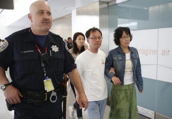 华人实拍:旧金山空难幸存者逃生画面