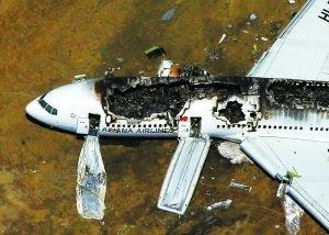 失事飞机现场图片