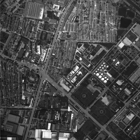 IOE3―Kanban集成在大面阵CCD数字相机系统上开展飞行试验时在800米高空拍摄的全幅照片