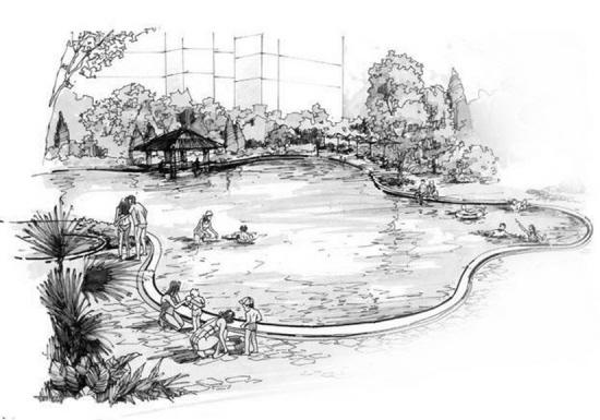 莫让小区景观湖成 危险河
