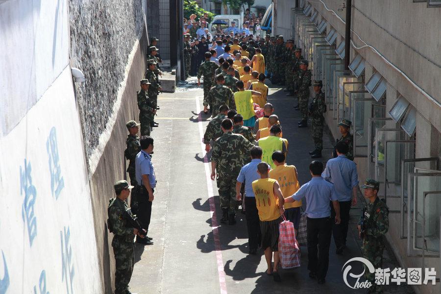 浙江 舟山/2013年7月9日,浙江省舟山市定海区看守所搬迁。