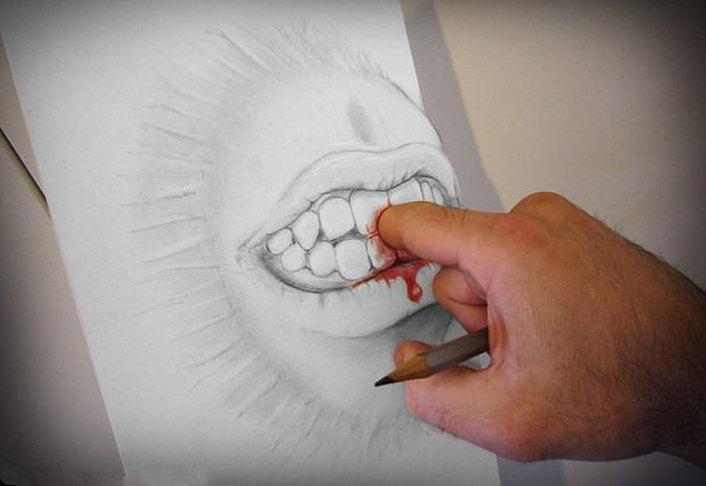 艺术家绘3d铅笔画奇迹跃然纸上(图)(1)_科学探索_光明