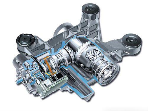 汽车 差速器/奥迪Q3搭载的四驱机构结构图