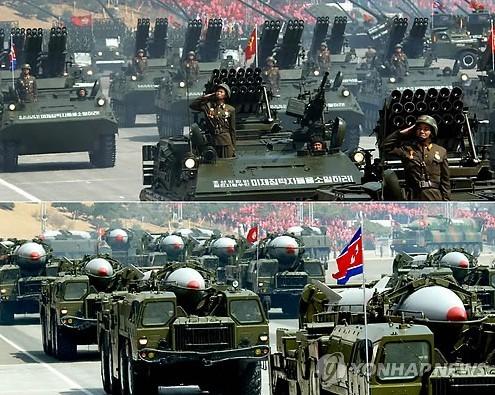 朝鲜曾于2012年阅兵式上展示的武器