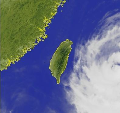 台湾气象部门11日9:30发布的红外线云图。图自台湾联合报